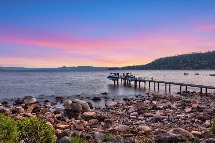 California Real Estate Blog - Lakefront Estate - Sunset View of Lake