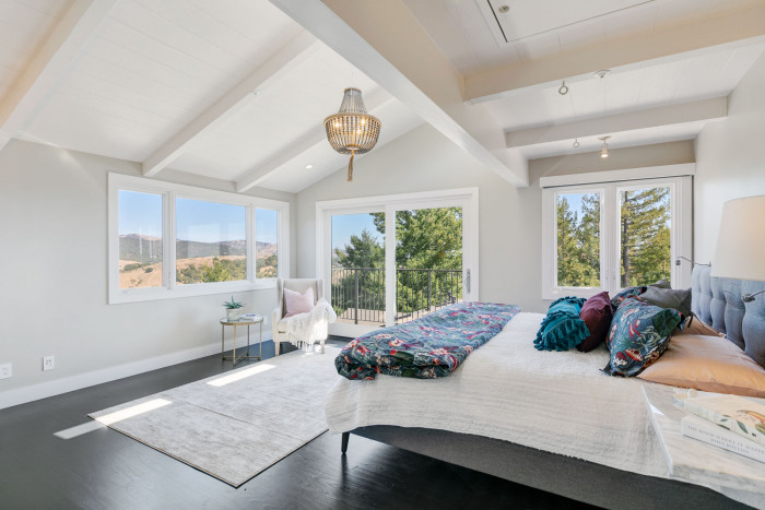 master suite of mt. tam estate
