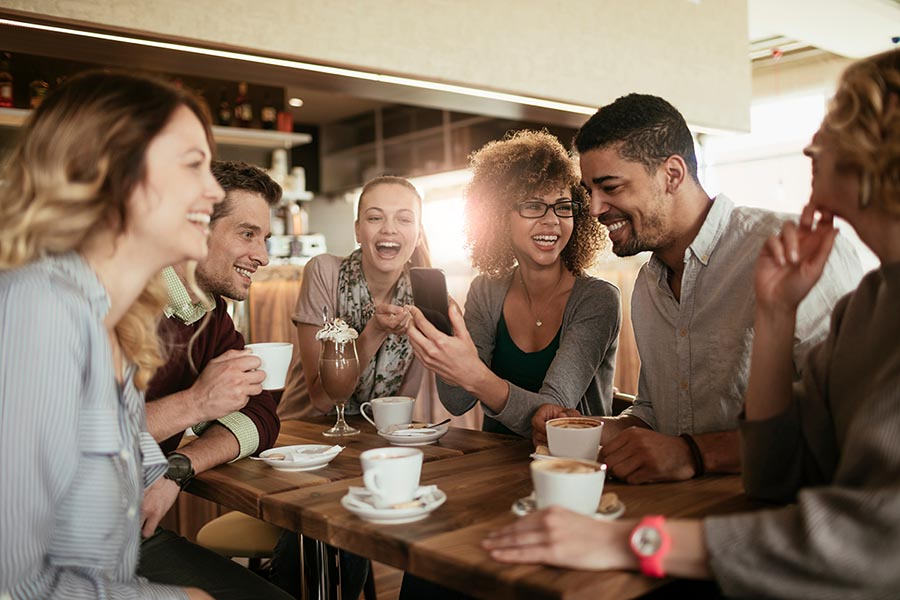 friends having coffee - Pacific Union