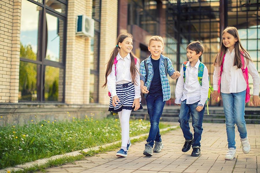 Kids walking to school - Pacific Union