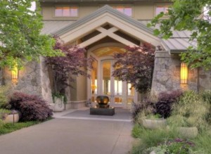 Exterior view of the entrance to 2395 Old Soda Springs Road, Napa.