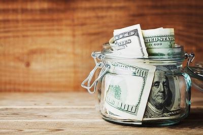 Jar of cash
