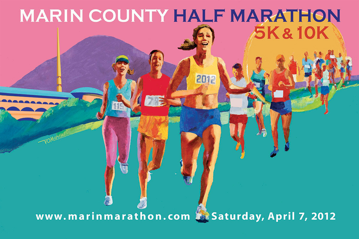 Marin County Marathon, Saturday, April 7, 2012