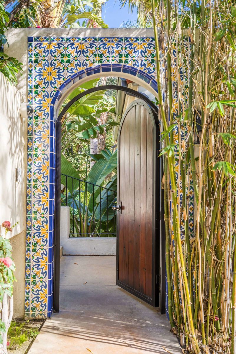 tile garden door