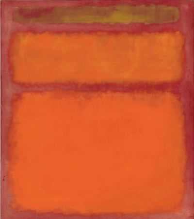 "Mark Rothko's painting ""Orange, Red, Yellow."""