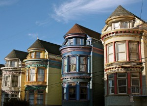 A row of Victorian-era homes in San Francisco.