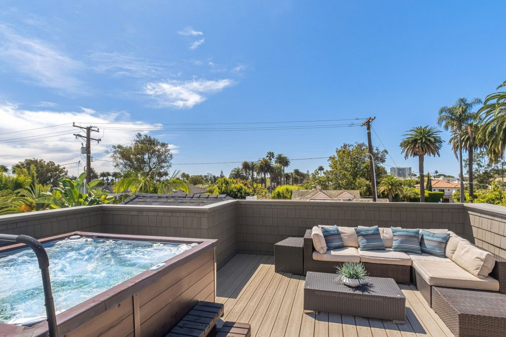 Rare retreat in prime Santa Monica backyard deck