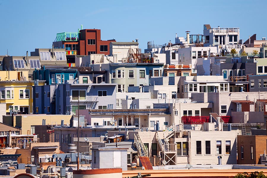 Different houses in San Francisco