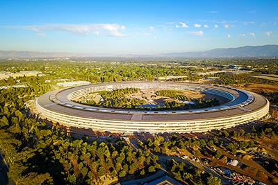 Apple spaceship campus in Cupertino