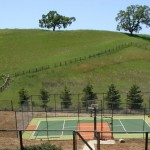The sport court at 12 Country Oak Lane, Alamo