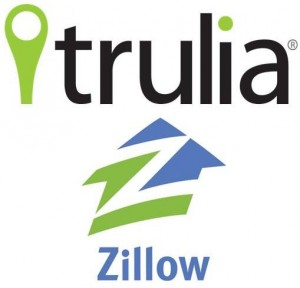 Trulia and Zillow logos