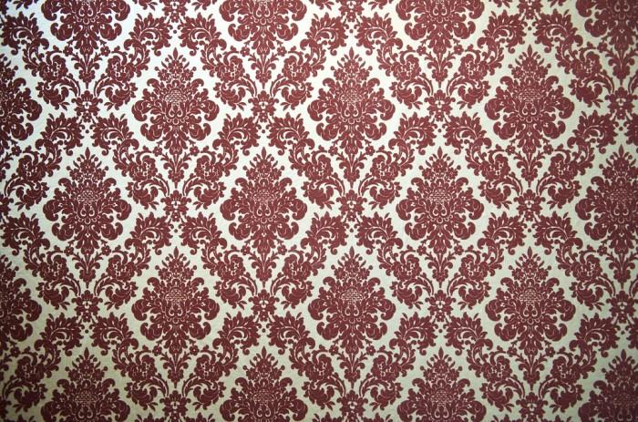 Velvet-flocked wallpaper